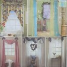 Easy Home Decorating Window Treatments Simplicity 8344 Patterns, Uncut