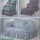 Easy Donna Lang Design Sofa and Chair slip covers Simplicity 8978 Patterns, Uncut