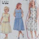 OOP Simplicity 7200 Pattern, Easy Girls Dress, Size 7 8 10, Uncut FF