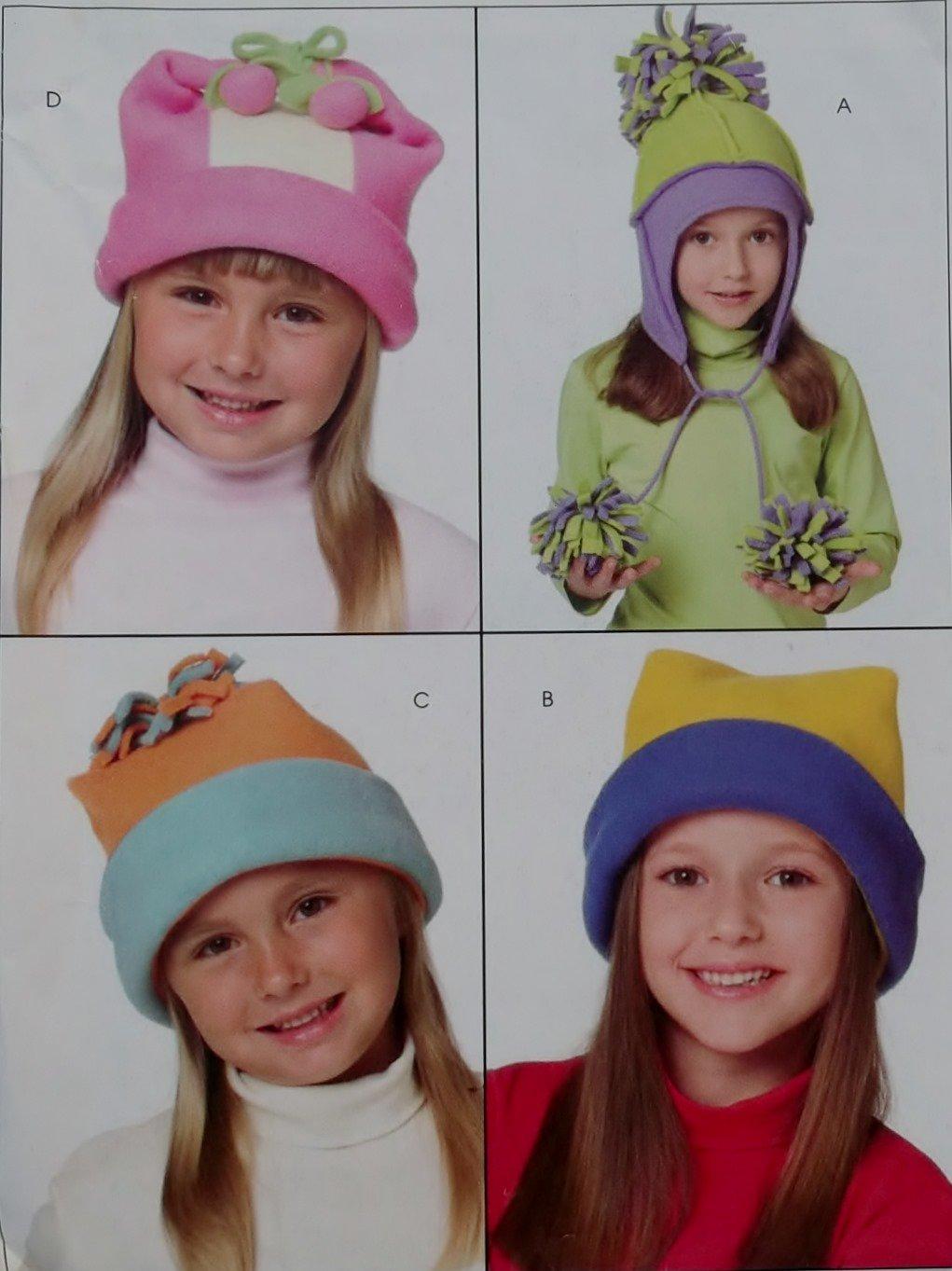 McCalls M 4957 Easy Girls' & Boys' Hat in 4 sizes Pattern, Size S M L XL, UNCUT FF