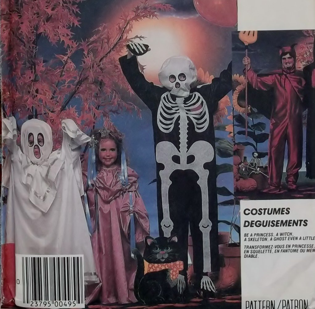 OOP McCalls 2743 Pattern Childs Costume Witch Skeleton , Sizes 10 12,  UNCUT