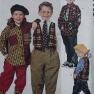McCalls 6682 Pattern, Childs Vest, Shirt, Pants, Tie, Sizes 2, 3, 4, UNCUT