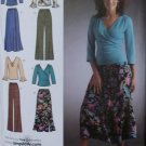 Simplicity 4095 Misses' Pants Skirt Knit Tops Pattern, Plus Sizes 10, 12, 14, 16, 18 UNCUT