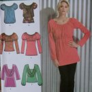 Six Made Easy Misses' Knit Tunic and Tops Simplicity 3682 Pattern, Plus Size 14 to 22, UNCUT