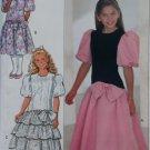 OOP Easy 4530 Butterick Sewing Pattern,  Girls Formal Party Drop Waist Dress, Size 7 8 10, UNCUT