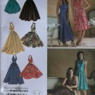 Ladies Halter Dresses. in 5 styles Simplicity 3823 Pattern, Size 6 To 14, Uncut