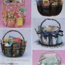 Simplicity 4232 Sewing Pattern Accessories Bucket Cover Organizers w/Pockets & Dividers, Uncut