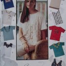 McCalls 6929 Creative Clothing Misses' T-Shirts Pattern, Size Sm Md Lg, Uncut