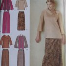 Easy Misses' Top Pants Skirt & Scarf Simplicity 4886 Pattern, Plus Sizes 20W to 28W UNCUT