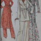 Vintage 70s Vogue 9772 Womens Dress and Pants, Plus Size 22 1/2, Uncut