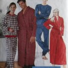 Unisex Robe & Pajamas McCalls 7428 Pattern, Plus Size XL, XXL Uncut