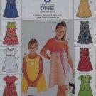 McCalls 8626 Pattern, Girls high waisted Dress, Sizes 2, 3, 4, UNCUT