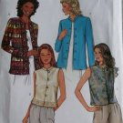 Easy Misses or Petite Jacket and Vest Butterick 3927 Pattern, Size 6 8 10, Uncut
