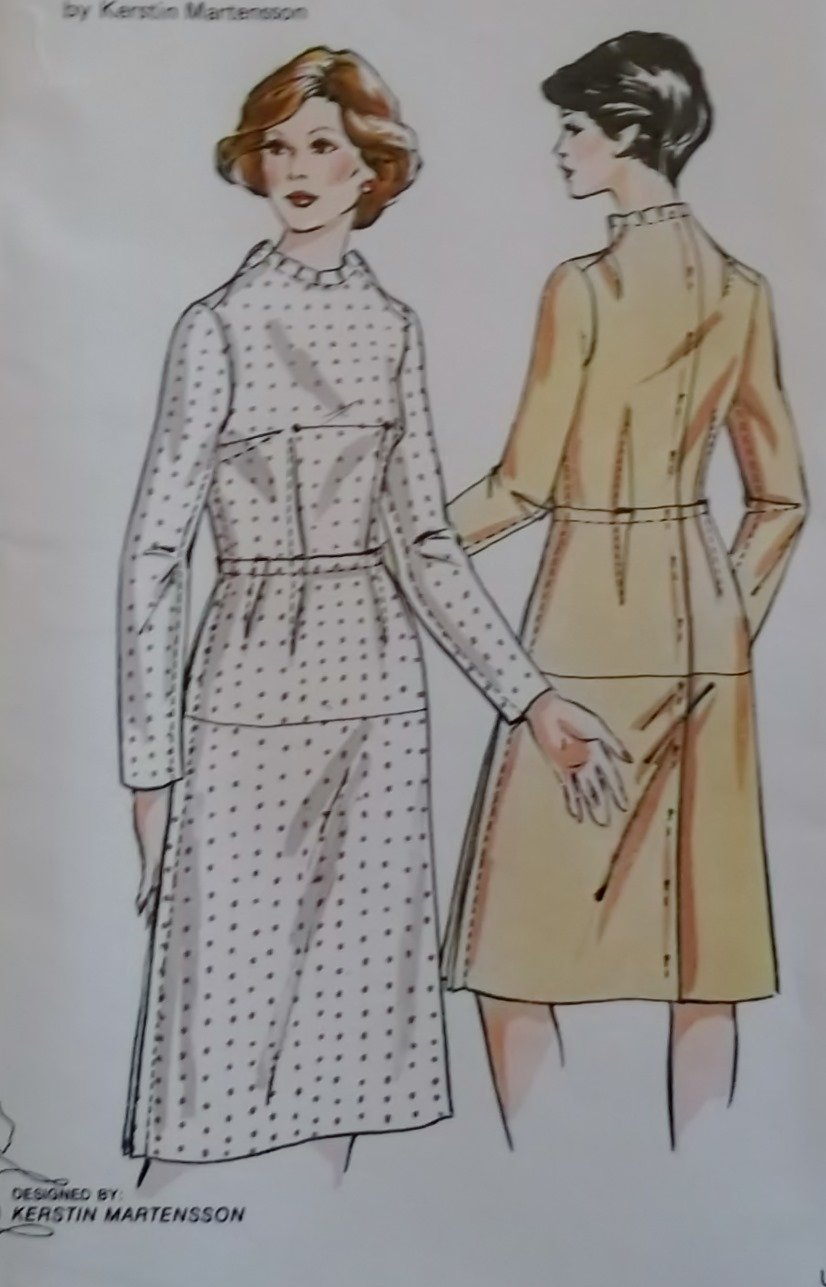 Vintage Kwik Sew 774 Misses Basic Dress Fitting Sewing Pattern, Plus Size 18 20 22, UNCUT