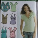 Misses Knit Pullover Tops in 5 styles Simplicity 3837 Pattern, Plus Sz 14 To 22, Uncut
