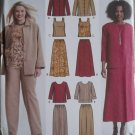 Simplicity 5463 Misses' Pants Skirt tank Top Jacket & Top Pattern, Plus Sizes 10 to 18 UNCUT