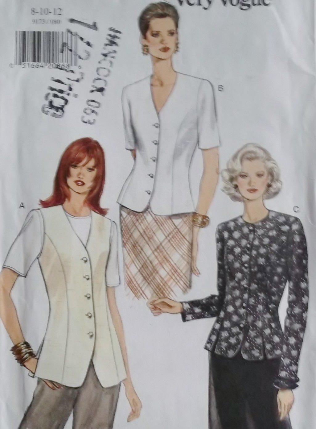 Classic Misses or Petite Skirt Vogue 7922 Pattern,  Sz 8 10 12,  UNCUT