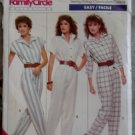 Easy Misses' Jumpsuit with sleeve variations. Butterick 6087 Pattern, size 12 14 16, Uncut