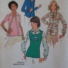 VTG 1976 Misses Blouse & Pullover Top Simplicity 7581 Pattern,  Half size 16 1/2, Uncut