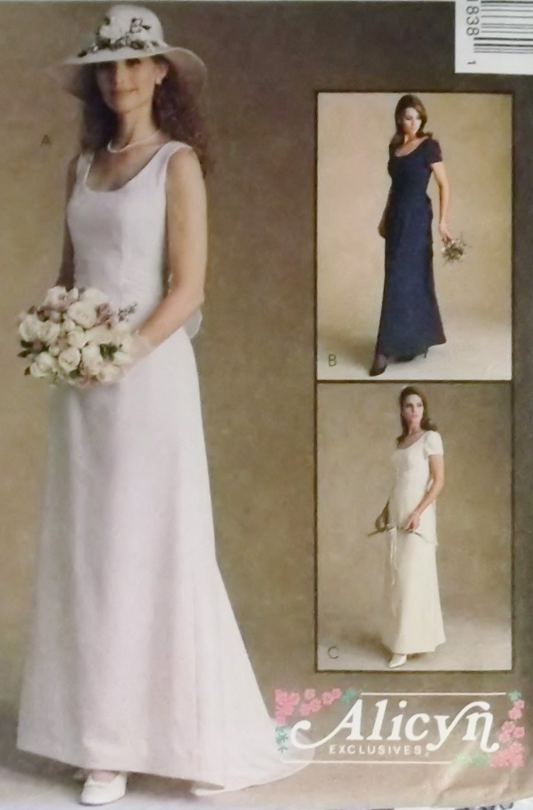 McCalls 9183 Alicyn Exclusives Pattern, Misses Dresses Bridal and Bridesmaid, Plus Size 20, UNCUT