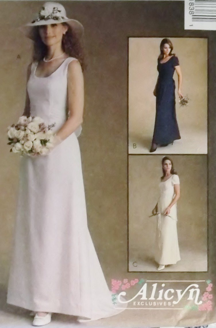 McCalls 9183 Alicyn Exclusives Pattern, Misses Dresses Bridal and Bridesmaid, Size 12, UNCUT