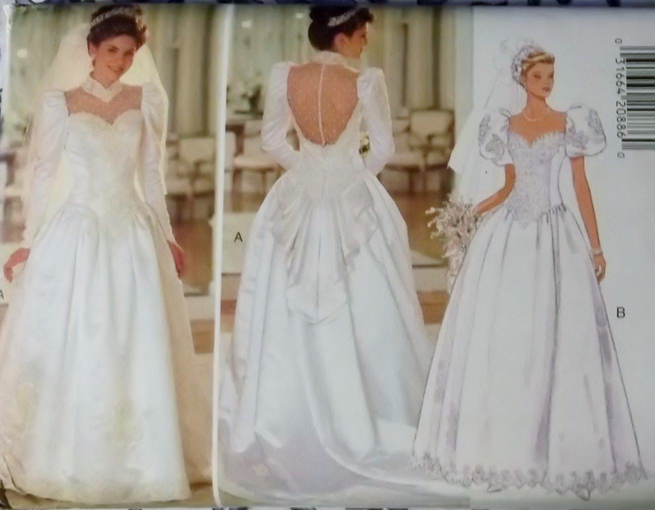 Misses Bridal Dress Butterick 3839 Pattern,  Size 14 16 18, UNCUT