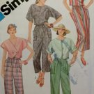 OOP Simplicity 6458 Misses Pull-on Cropped Pants & Pullover Tops Pattern, Size 10, UNCUT