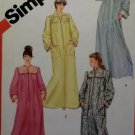Misses front zip Robe Simplicity 6223 Pattern, Size Small 10 12, UNCUT