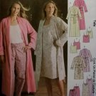 McCalls 4218 Misses' or Petite robe nightgown tops & pants Pattern, Size XSm Sm Med, Uncut