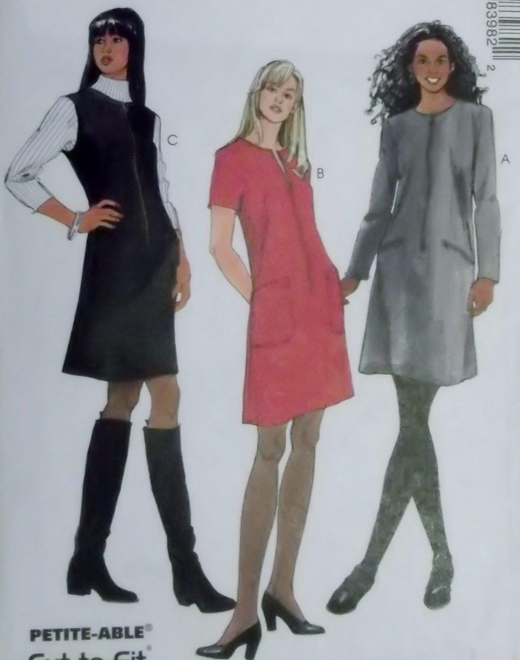 Misses Dress or Jumper McCalls 8398 Sewing Pattern, Size 8 10 12, Uncut