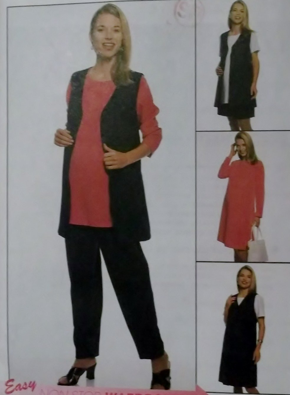 Easy McCalls 9305 Sewing Pattern, Misses' Maternity Wardrobe, Plus Size 16 18 20, UNCUT