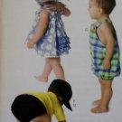McCalls M 6309, Infants' Dress, Panties, Romper, Diaper Cover & Hats Pattern, Size S to XL, UNCUT