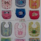McCalls M 6108, Infants' Bibs and Diaper Covers Pattern, Size  XS to L, UNCUT