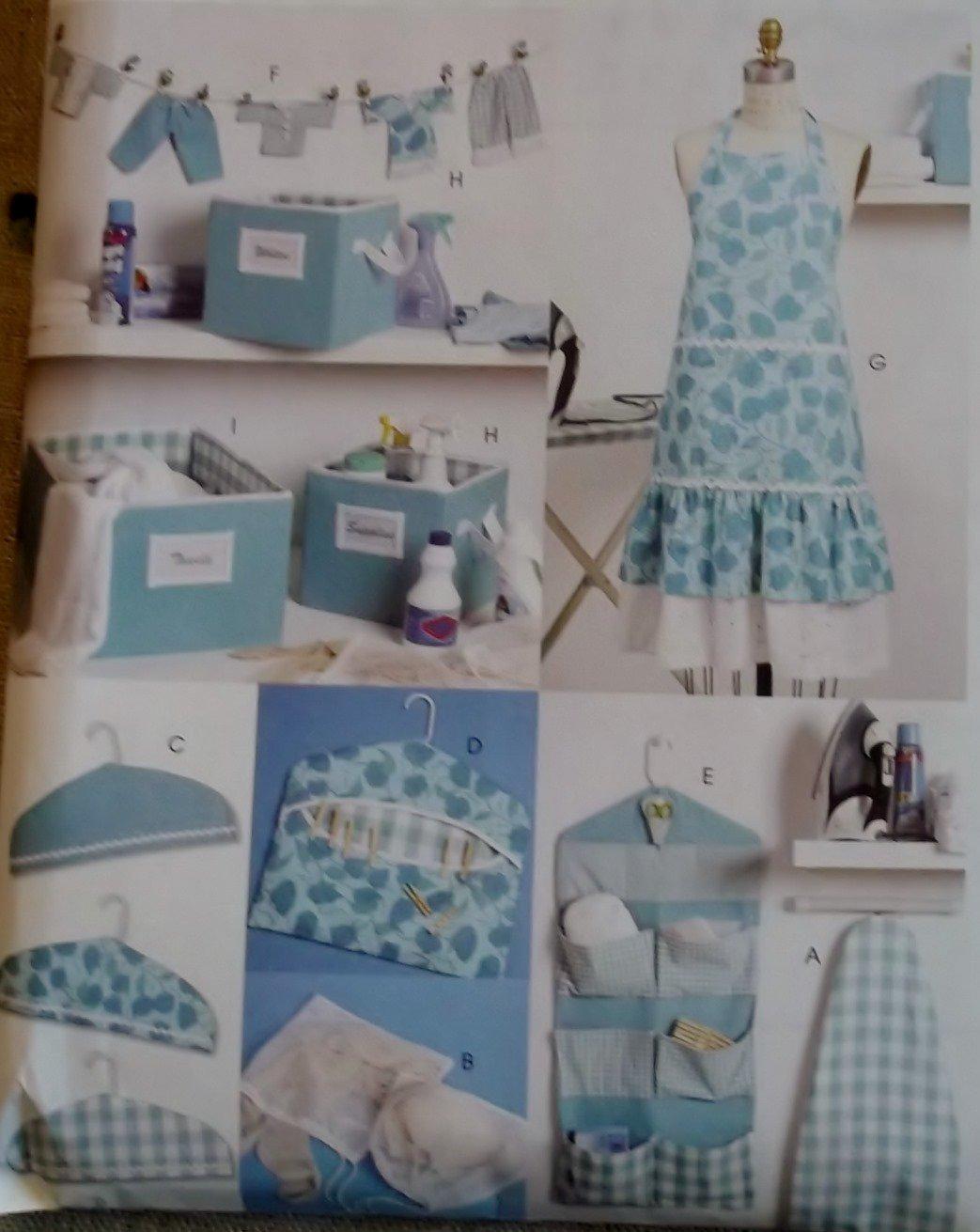 McCalls M 6051, Apron & Laundry Accessories Pattern, One Size, UNCUT