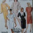 Misses' Back Button Dress McCalls 4338 Pattern Plus Sz 20 22 24, Uncut
