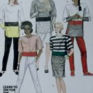 Misses Ladies Top Skirt Pant McCalls 4018 Pattern, Size Small 10 12, UNCUT