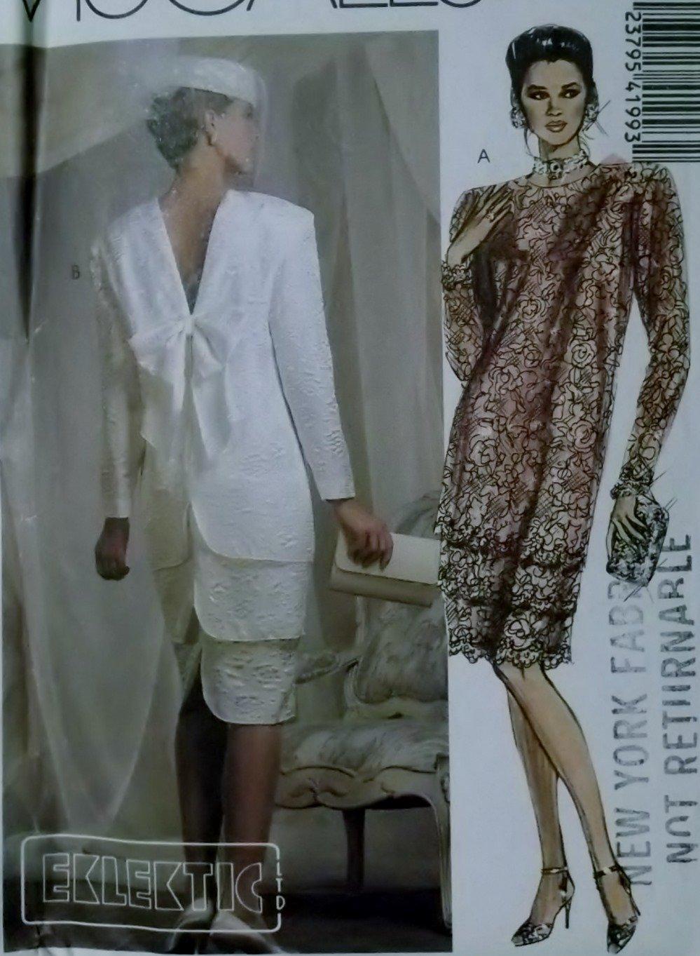 McCalls 4199 Pattern, Misses Eklektic Design Dress with Three Tiers, Size 12, UNCUT