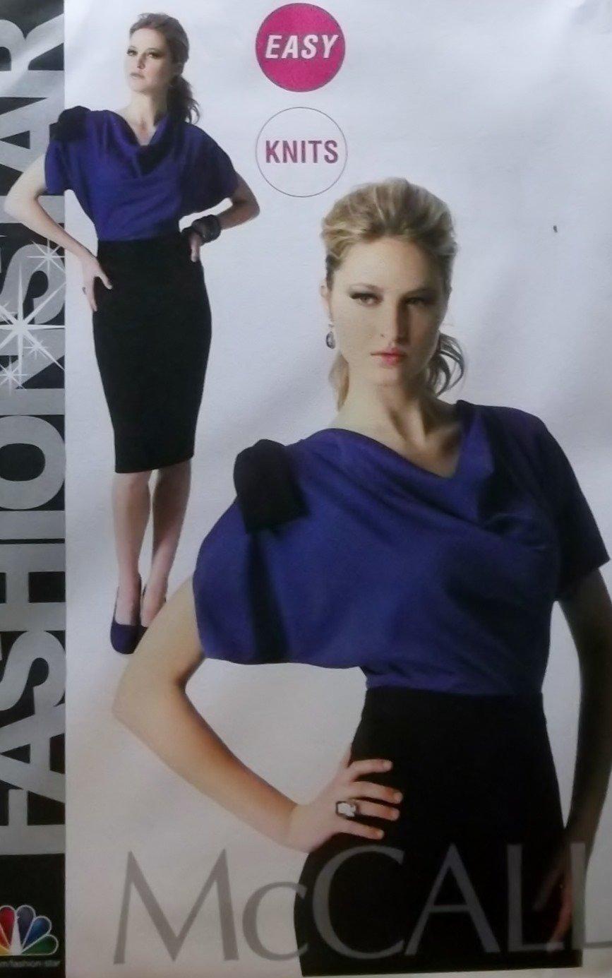 Easy McCalls M 6788 Sewing Pattern, Fashion Star Misses' Dress, Plus Size 14 16 18 20 22, UNCUT