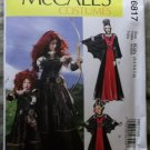 McCalls M 6817 Girls' Medieval Scottish Princess Costumes, Sz 3 to 8, Uncut