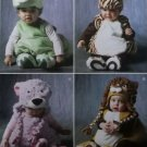 McCalls M 6812 Pattern, Baby Toddler Animals Costumes , Sz A ½ 1 2 3 4,  UNCUT