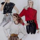 Vintage Misses Blouse Vogue 7415 Patterns, Sizes 12, 14, 16, UNCUT