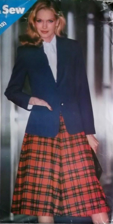 Butterick 3285 Misses Jacket & Skirt Sewing Pattern, Size 8 10 12, Uncut