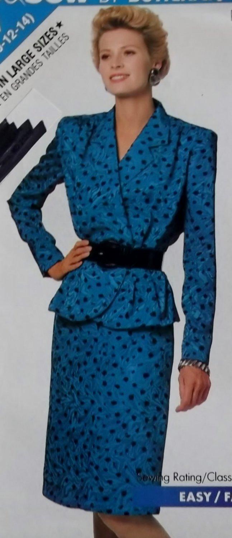 Easy McCalls 6514 Pattern Misses' Top & Skirt, Sizes 6, 8, 10, 12, 14, UNCUT