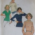 Vintage 1974 Simplicity 6624 Misses Knit Tops Sewing Pattern, Sz 18, Uncut