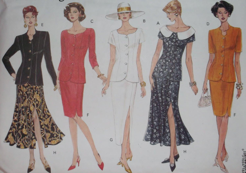 Misses' 0r Petite Top and Skirt Vogue 1173 Pattern 12 14 16, Uncut