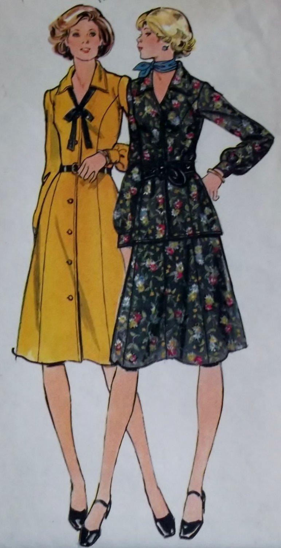 VTG Misses Half Size Dress, Top & Skirt Simplicity 4469 Pattern,  Half size 16 1/2, Uncut