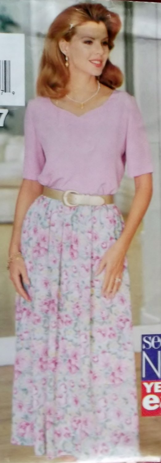 Misses Top, Skirt & Slip Butterick 3407 Pattern 12 14 16, Uncut