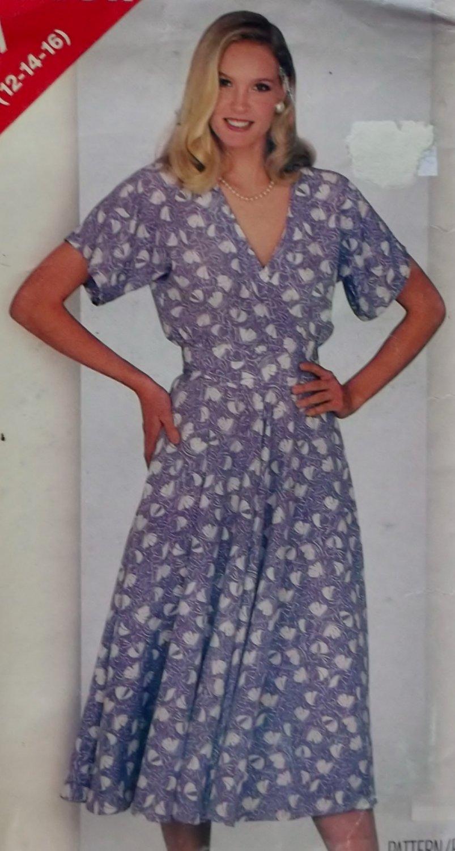 Misses Dress Butterick 5407 Pattern 12 14 16, Uncut