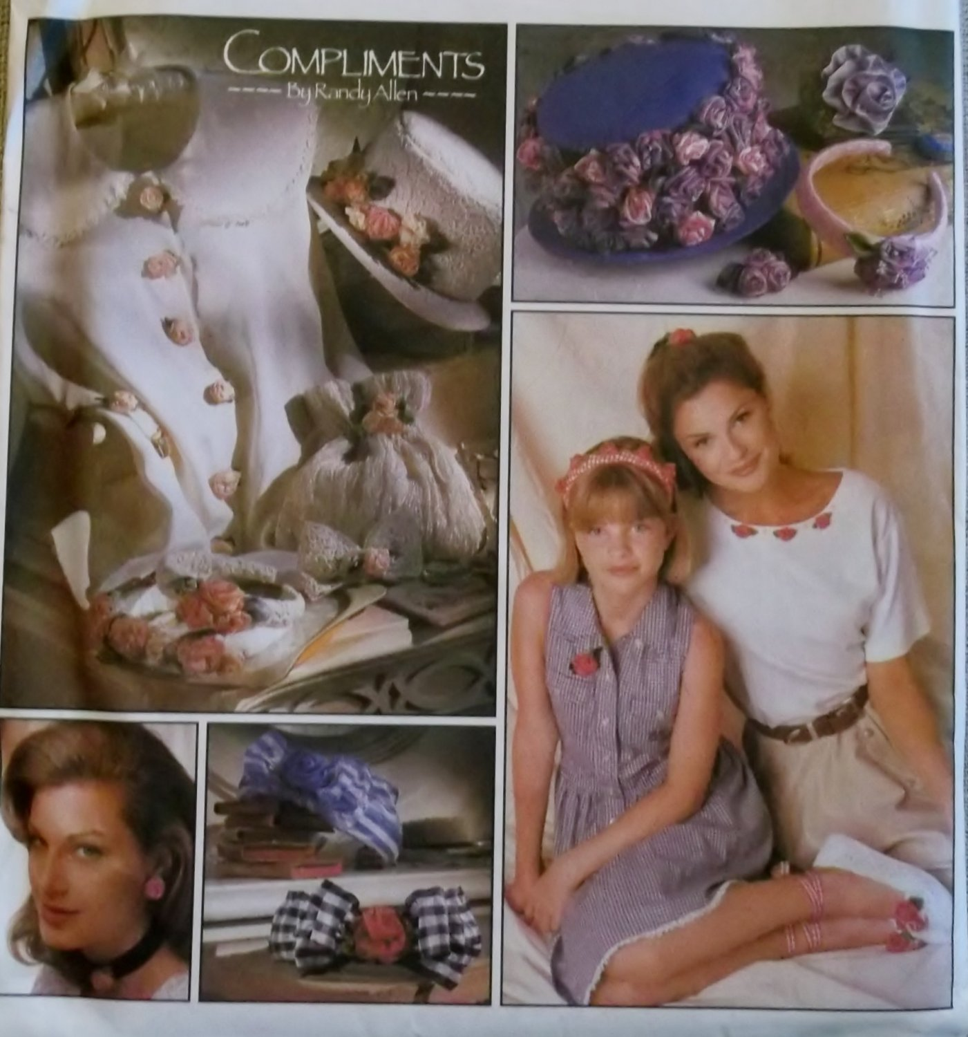 Simplicity 8807 Hat, Bag Accessories & Wire Ribbon Flower Decorations Pattern OS UNCUT