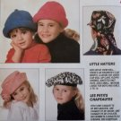 McCalls 6497 Childrens Hats Pattern, Sized for ages 2 to 12, UNCUT